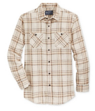 American Rag Men's Plaid Flannel Shirt, Stone Block, Size M, MSRP $40