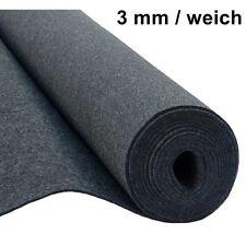 Filz Taschenfilz Basteln 0,5lfmMeterware 3mmStark 1,5mBreit weich Grau Anthrazit