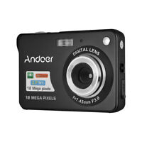 Andoer 18M 720P HD Digital Camera Video Camcorder with 2pcs Rechargeable S3Q6