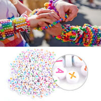 500pcs A-Z Cycle Acrylic Letter Beads Alphabet Beads DIY Bracelet Necklace Craft