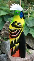 Papagei Figur Holzfigur Deko Skulptur Papageifigur Holz-Papagei Vogel Kakadu Ara