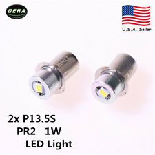 New 2x 1W 3V PR2 White Flashlight Replacement LED bulb Emergency Lantern Light