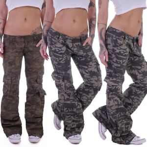 Cargohose Cargo Army Jeans Baggy Cargojeans Hose Hüftjeans Camouflage K9