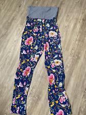 Pip Studio L Hose Schlafhose blau *super weich* trouser long Mit Blumenprint