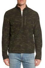 *New* Men's Small Ibex Scout Jura Half Zip Pullover Merino sweater*Bamboo Forest