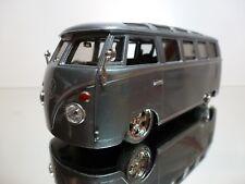MAISTO VW VOLKSWAGEN T1 VAN SAMBA - G RIDEZ  - GREY METALLIC 1:25 - GOOD