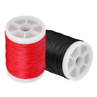 2pcs 110m Archery Bow String Serving Material Bowstring Protect (Red Black)