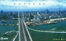 *48 SCHEDA TELEFONICA PHONECARD USATA GIAPPONE JAPAN BRIDGE TOKYO BAY