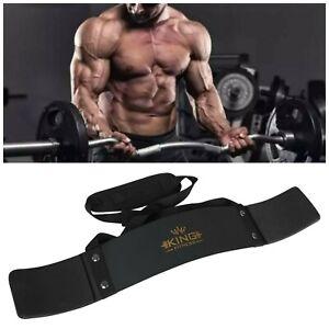 UK KING Gold Bicep Isolator Gym  Bar Curl Blaster Arm Training Weight Lifting