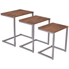 3PC Stacking Nesting Coffee End Table Set Living Room Modern Home Furniture New