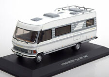 MERCEDES HYMERMOBIL TYP 650 1985 WHITE GREY IXO CAC004 1/43 BENZ CAMPING CAR