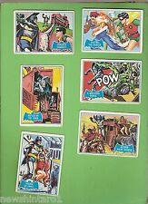 #D245.  SCANLENS 1966 BATMAN BLUE  BAT CARDS   27, 28, 29, 30, 31, 32