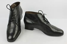 VINTAGE Boots Booties Lace PETER KAISER Black Leather UK 5/FR 37,5/38