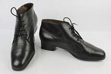 VINTAGE Bottines Boots à Lacets PETER KAISER Cuir Noir UK 5 / FR 37,5 / 38 TTBE