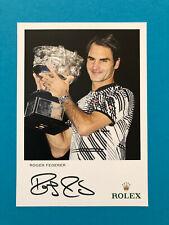 Roger FEDERER original signierte Autogrammkarte