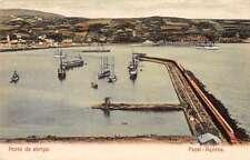 Fayal Acores Portugal Porto de Abrigo Scenic View Antique Postcard J63529