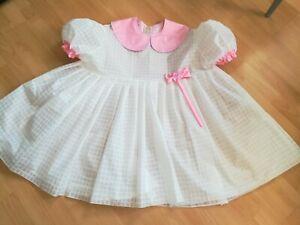 Adult Baby Sissy Kleid Zofe LACK PVC Plastik DIENSTMÄDCHEN GR. XL KURZ WEIẞ