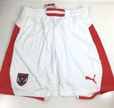 Puma Austria Home Mens Football Shorts Size Large White Red R543-3