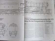 Eisenbahn N Risszeichnungen 1Dh2 Lok US Army Klapperschlange für Europa 5/00