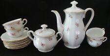 Antique Oscar Schaller & Co Bavaria Germany TEAPOT, Sugur bowl, 6 cups,8 saucers