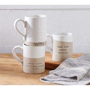 Mud Pie E1 Farmstead 16oz Ceramic Mug 43500048 Choose Design
