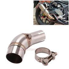 Motorcycle Exhaust Mid Pipe Muffler Link Tube For Kawasaki Ninja 250R 250SL Z250