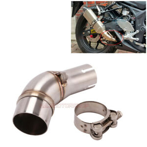 Motorcycle Exhaust Mid Pipe Muffler Link Tube For Kawasaki Ninja 250R 250SL Z250