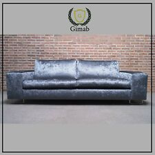 Gimab three-seater sofa Croco Velvet Biscayne Antra Grey