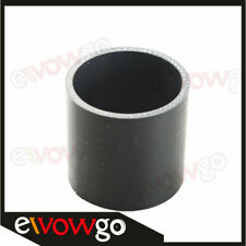 """2"""" inch Straight Reducer Silicone Coupler 3 Ply Hose Pipe Black"""