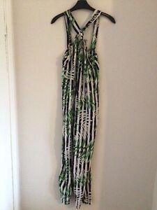 "Zara Medium Jumpsuit 16"" Across L 25"" Tree Pattern Ring At Bust Polyester"