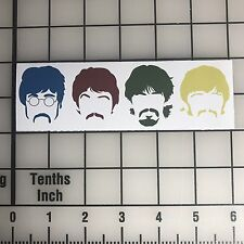 "The Beatles Faces 6"" Wide Vinyl Decal Sticker - BOGO"