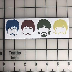 "The Beatles Faces 6"" Wide Vinyl Decal Sticker - BOGO"
