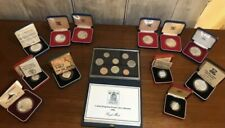 More details for job lot royal mint silver proof coins. piedfort pounds x2, solid silver bullion