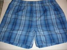 BLOOMINGDALES Plaid 3 Pair Full Cut Woven Boxer Shorts Sz S  New NWT