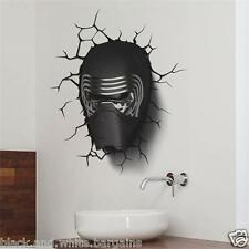 Starwars Kylo Ren 3D-effect Crack Wall Sticker Decal Removable Home Party Decor