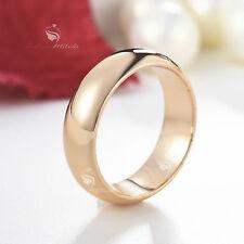 18K ROSE GOLD GF MEN WOMEN WEDDING BAND ENGAGEMENT RING
