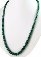 Natural Emerald 304ct Big Size Faceted Beads Gemstone Stings Necklace on ebay