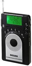 DEGEN DE15 AM/FM Stereo/SW Digital tuning portable pocket radio world receiver