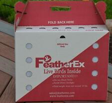 3 Pack FeatherEx Live Bird Shipping Boxes for Chicken, Duck, Poultry, Pheasant