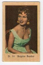 1960s Swedish Film Star Card Star D Series #14 French Sex Symbol Brigitte Bardot