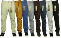 New Mens Big King Size Stretch Chinos Jeans Straight Leg Designer Sizes 42-60