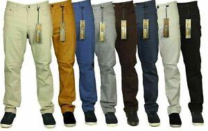 New Mens Big King Size Stretch Chinos Jeans Straight Leg Designer Sizes 42-60