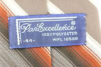 Vintage 70s Tie Necktie Polyester striped Tie Brown Orange Ivory Neckwear Mens