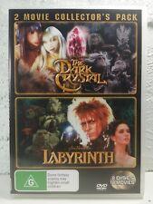 Dark Crystal DVD + Labyrinth 2 KIDS FANTASY MOVIES - David Bowie