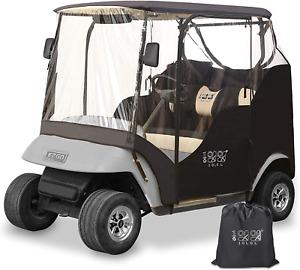 Golf Cart Enclosures Cover EZGO TXT Waterproof Transparent for 2 Passenger