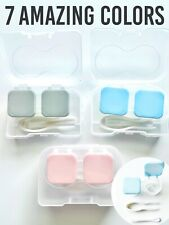 Contact Lens Travel Case IV FLIP TOP Kit Box Storage Container Holder Set Cute