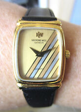 Ladiess Swiss 18k Gold Plated Raymond Weil Quartz esa 978.001 Watch Serviced