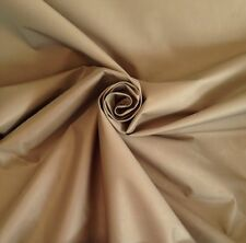 10 Metres Pale Gold Faux Silk With Blackout Lining Curtain & Upholstery Fabric