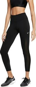 Nike Epic Luxe Cool Womens Leggings Mid-Rise 7/8 Black Multi Size Running Gym