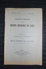Bulletin Mensuel de la réunion Biologique de Nancy - 1909